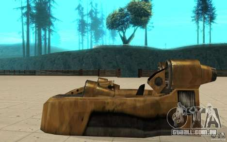 O vórtice do jogo comando e Conquer Renegade para GTA San Andreas esquerda vista