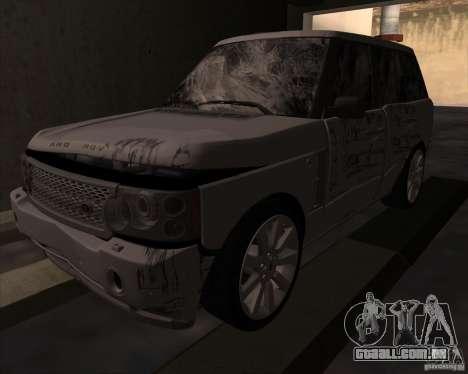 Land Rover Range Rover Supercharged para GTA San Andreas vista traseira