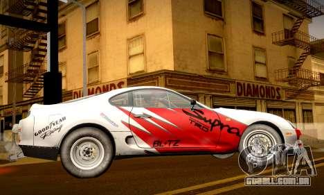 Toyota Supra JZA80 RZ Dragster para GTA San Andreas