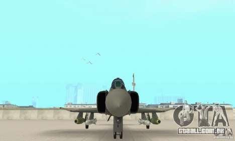 F-4E Phantom II para GTA San Andreas vista interior