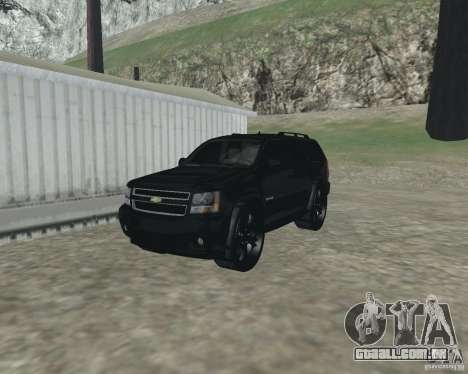 Chevrolet Tahoe BLACK EDITION para GTA San Andreas