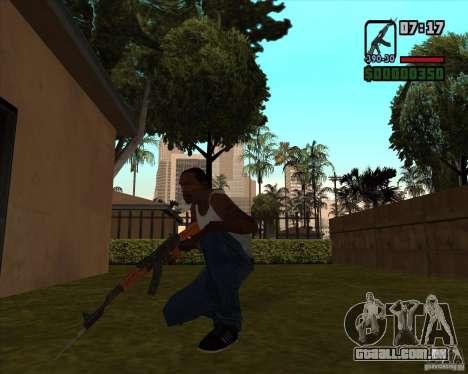 AK-47 com baioneta para GTA San Andreas