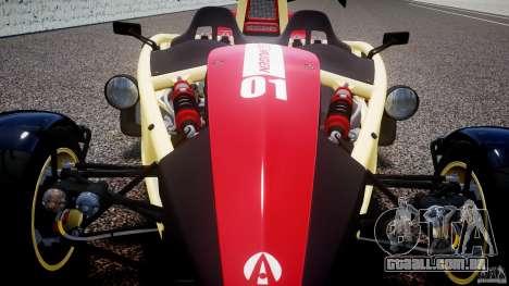 Ariel Atom 3 V8 2012 Custom Mugen para GTA 4 vista superior