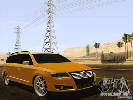 Volkswagen Passat B6 Variant para GTA San Andreas vista inferior
