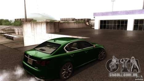 Lexus GS350F Sport 2013 para GTA San Andreas esquerda vista