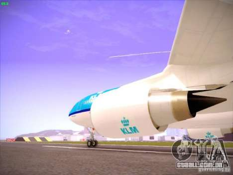 Airbus A330-200 KLM Royal Dutch Airlines para GTA San Andreas vista interior