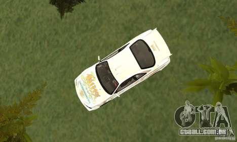 Nissan SkyLine R34 Tunable V2 para GTA San Andreas vista traseira