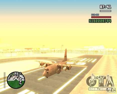 C-130 hercules para GTA San Andreas vista traseira