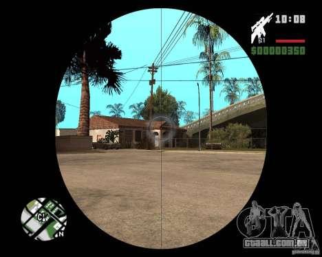 SR 25 para GTA San Andreas terceira tela