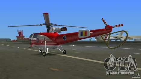 IAR 316B Alouette III SMURD para GTA Vice City vista direita