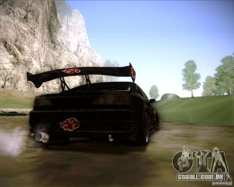Nissan Silvia S15 with AKATSUKI paintjob para GTA San Andreas esquerda vista