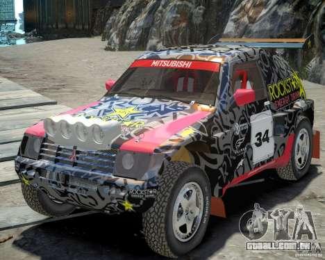 Mitsubishi Pajero Proto Dakar EK86 vinil 1 para GTA 4