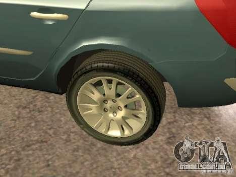 Renault Laguna II para GTA San Andreas vista interior