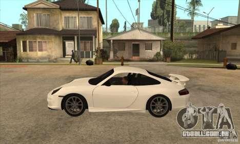 Porsche 911 GT3 (996) para GTA San Andreas esquerda vista