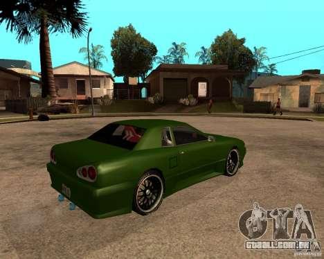 Elegy Green Line para GTA San Andreas traseira esquerda vista