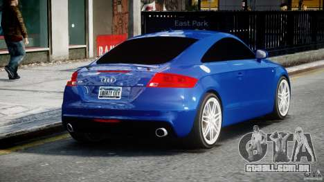 Audi TT RS Coupe v1.0 para GTA 4 vista lateral
