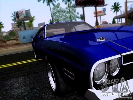 Dodge Challenger HEMI para GTA San Andreas traseira esquerda vista