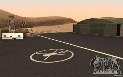 New Verdant Meadows Airstrip para GTA San Andreas por diante tela