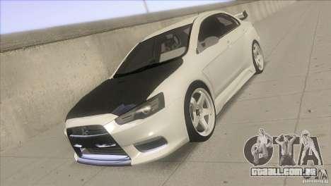 Mitsubishi Lancer Evo IX DIM para GTA San Andreas vista traseira