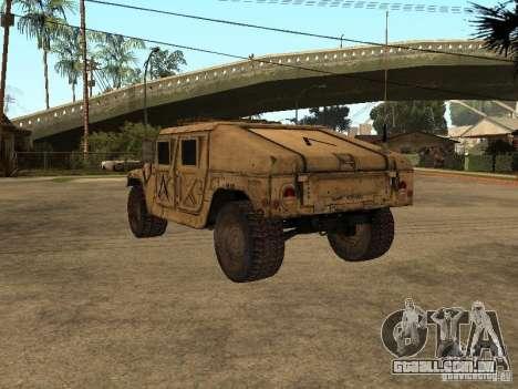 War Hummer H1 para GTA San Andreas traseira esquerda vista