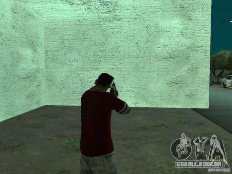 FN Scar-L HD para GTA San Andreas por diante tela
