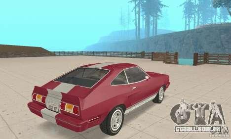 Ford Mustang II 1976 Cobra v. 1.01 para GTA San Andreas esquerda vista