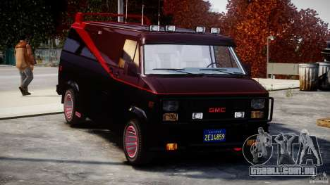 GMC Van G-15 1983 The A-Team para GTA 4 vista superior