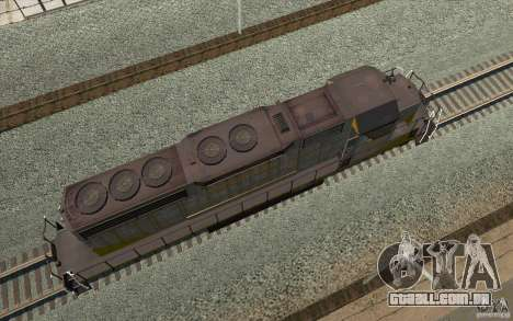 Clinchfield SD40 (Yellow & Grey) para GTA San Andreas vista traseira
