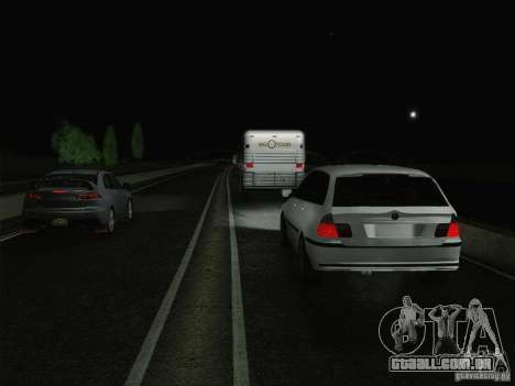 BMW M3 E46 Touring para GTA San Andreas vista superior