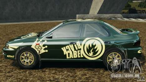 Subaru Impreza WRX STI 1995 Rally version para GTA 4 esquerda vista