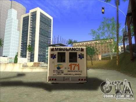 Ford E-350 Ambulance para GTA San Andreas traseira esquerda vista