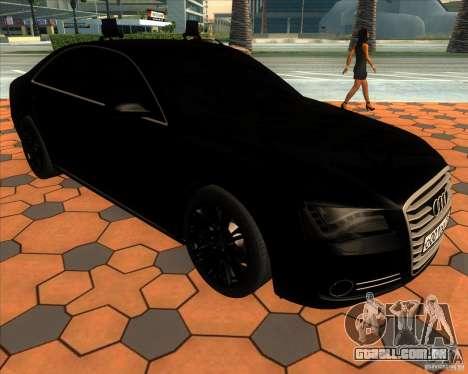 Audi A8 2010 v2.0 para vista lateral GTA San Andreas