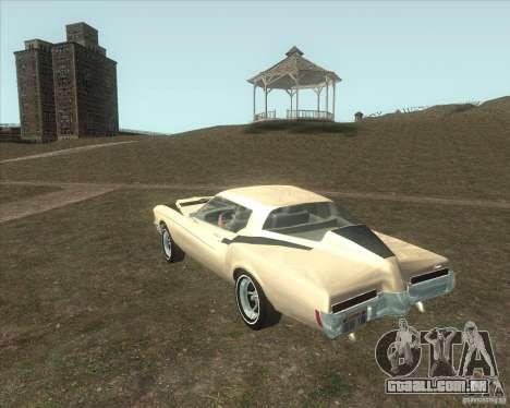Buick Riviera Boattail 1972 tuned para GTA San Andreas esquerda vista