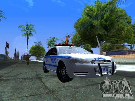 Chevrolet Impala NYPD para GTA San Andreas esquerda vista