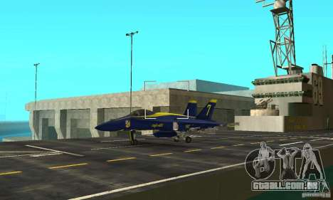 Blue Angels Mod (HQ) para GTA San Andreas vista traseira