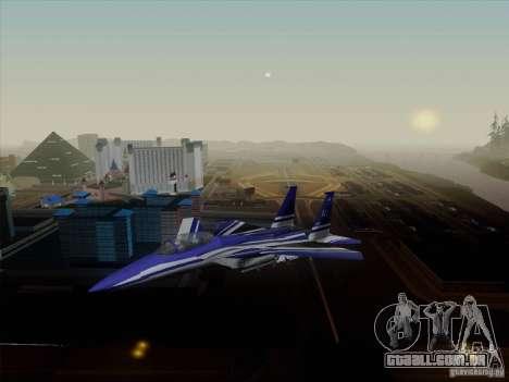 F-15 SMTD para GTA San Andreas traseira esquerda vista