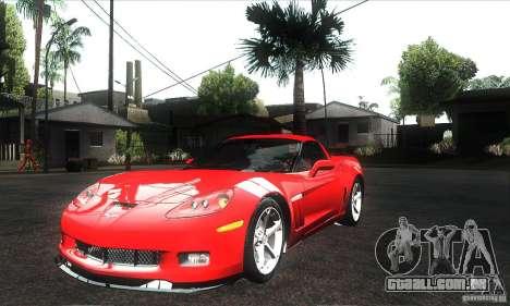 Chevrolet Corvette Grand Sport 2010 para o motor de GTA San Andreas
