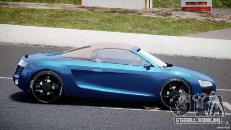Audi R8 Spyder v2 2010 para GTA 4 esquerda vista