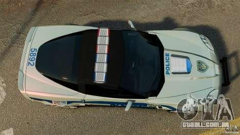 Chevrolet Corvette ZR1 Police para GTA 4 vista direita