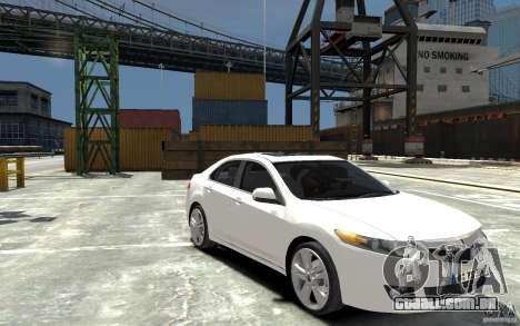 Acura TSX 2011 para GTA 4 vista de volta