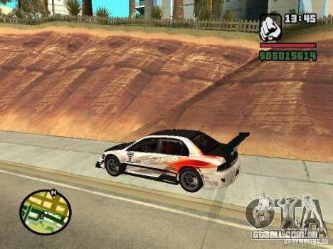 Mitsubishi Lancer Evo IX SpeedHunters Edition para GTA San Andreas esquerda vista