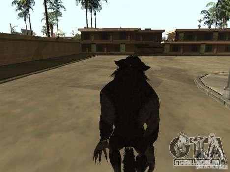 Werewolf from The Elder Scrolls 5 para GTA San Andreas terceira tela