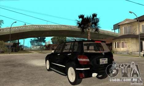 Mercedes Benz GLK300 para GTA San Andreas traseira esquerda vista