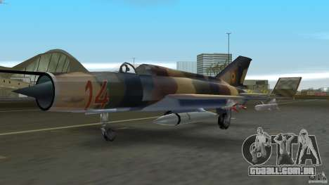 MiG 21 LanceR A para GTA Vice City deixou vista