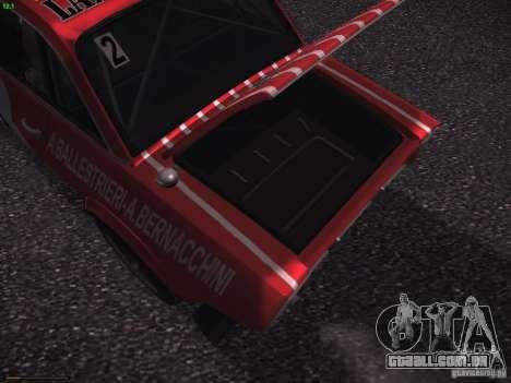 Lancia Fulvia Rally Marlboro para GTA San Andreas vista inferior
