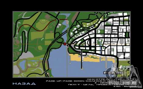 Rota v 1.0 para GTA San Andreas por diante tela