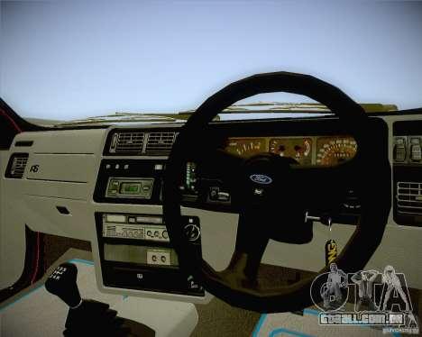 Ford Sierra RS500 Race Edition para GTA San Andreas vista direita