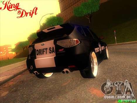 Subaru Impreza WRX Police para GTA San Andreas vista interior