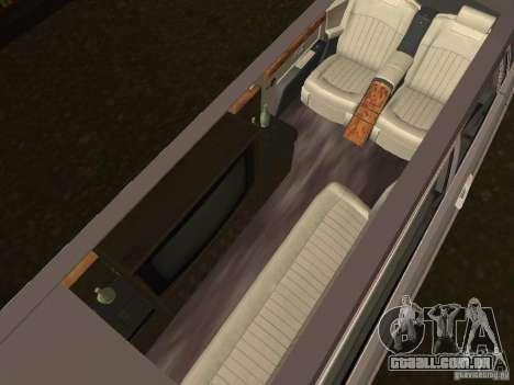 Motorista de limusine de Rolls-Royce Phantom 200 para GTA San Andreas traseira esquerda vista