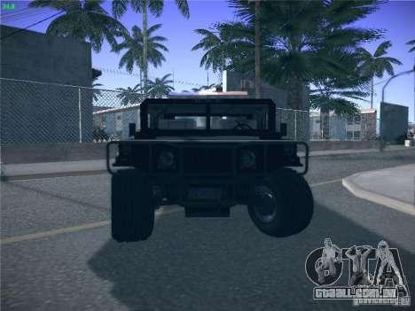 Hummer H1 1986 Police para GTA San Andreas vista superior